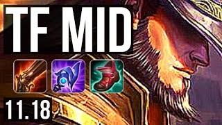TWISTED FATE vs GALIO (MID) | 9/0/6, 3.1M mastery, Legendary, 300+ games | NA Diamond | v11.18