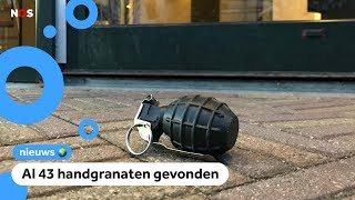 Steeds vaker handgranaten op straat gevonden