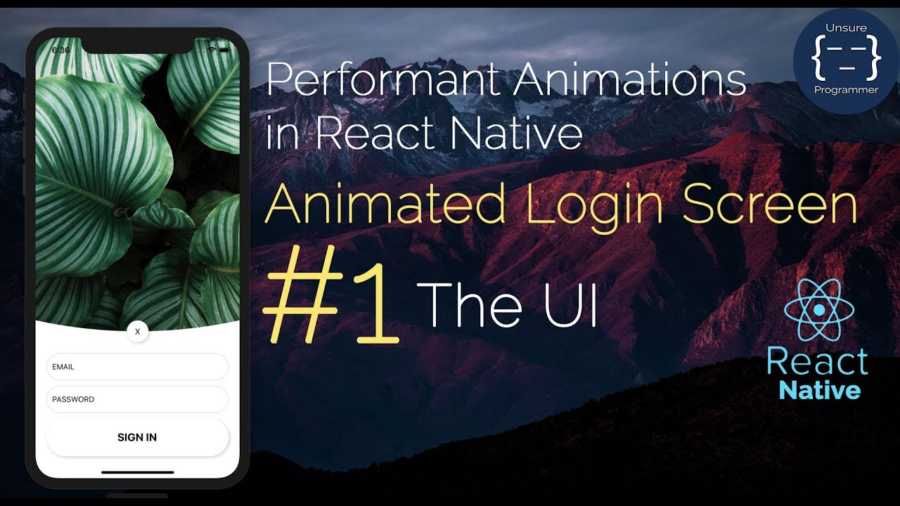 #1 Animated Login Screen - Professional Animations in React Native |  Reanimated | Gesture Handler
