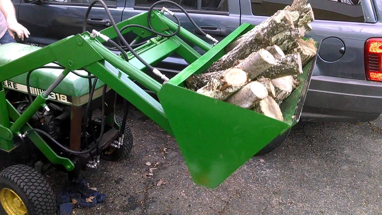 Front End Loader Attachment For John Deere 318 Youtube