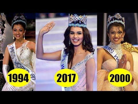 From Priyanka chopra to Manushi chillar Miss world from India 2017