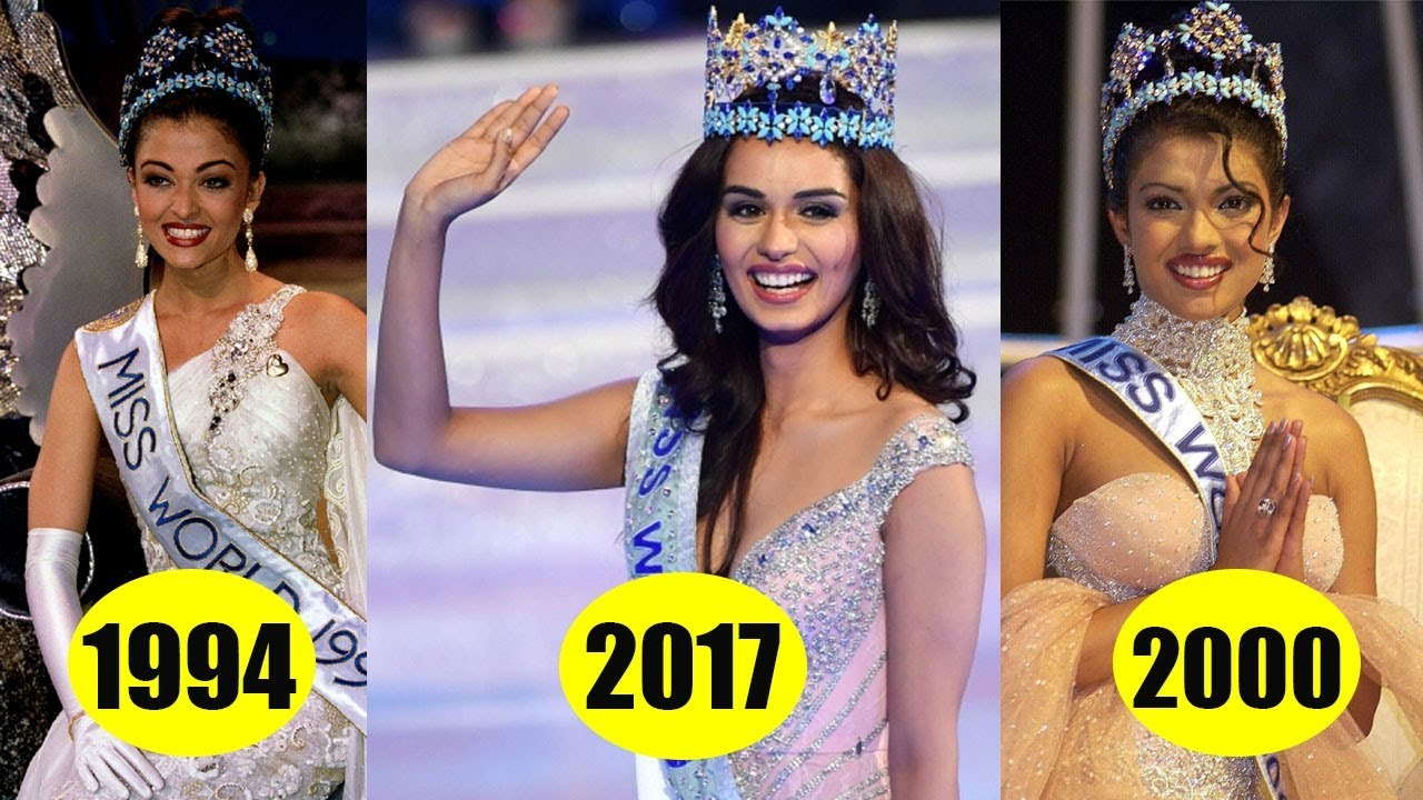 From Priyanka Chopra To Manushi Chillar Miss World From India 2017