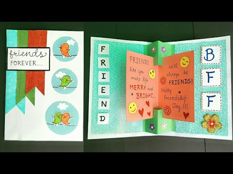 Friendship Day PopUp Card/How to make Card for Friends/Handmade Card for Best Friend/Card for friend