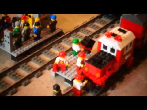 Lego Train layout! And a old (FedEx commercial with John Moschitta)