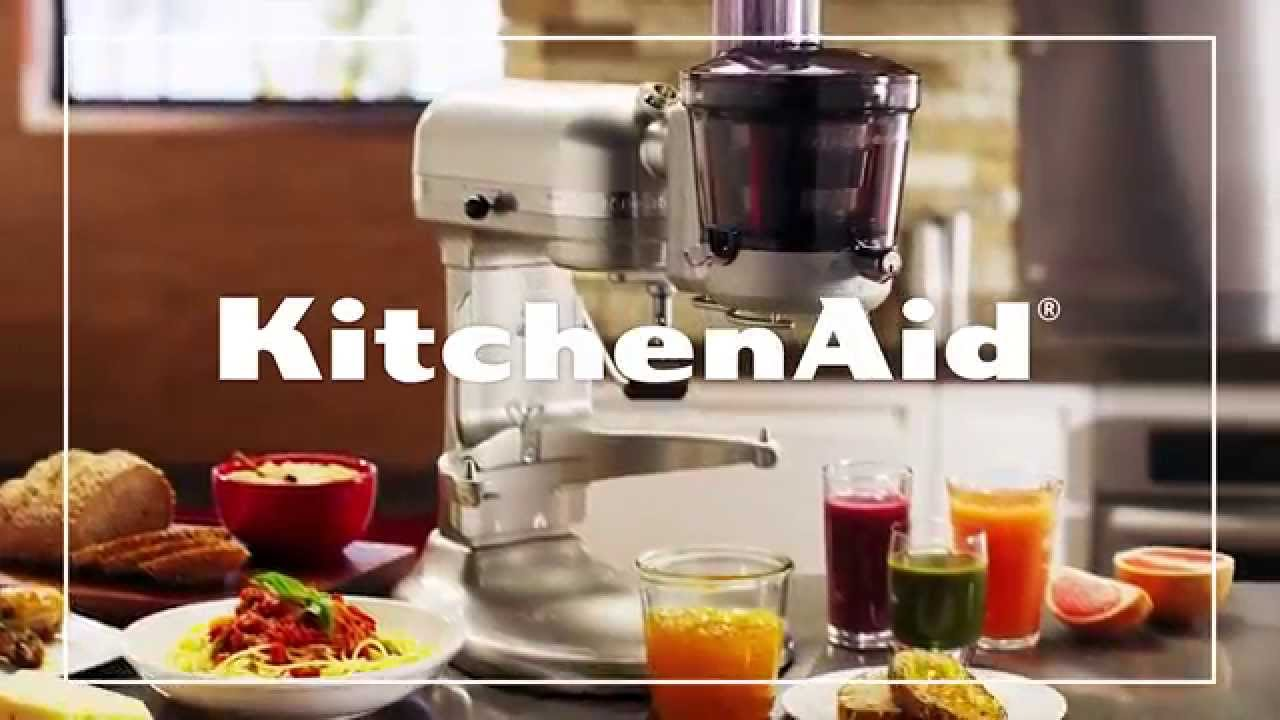 Slowjuicer Tilbud Kitchenaid : KitchenAid Slow Juicer and Sauce Attachment - YouTube