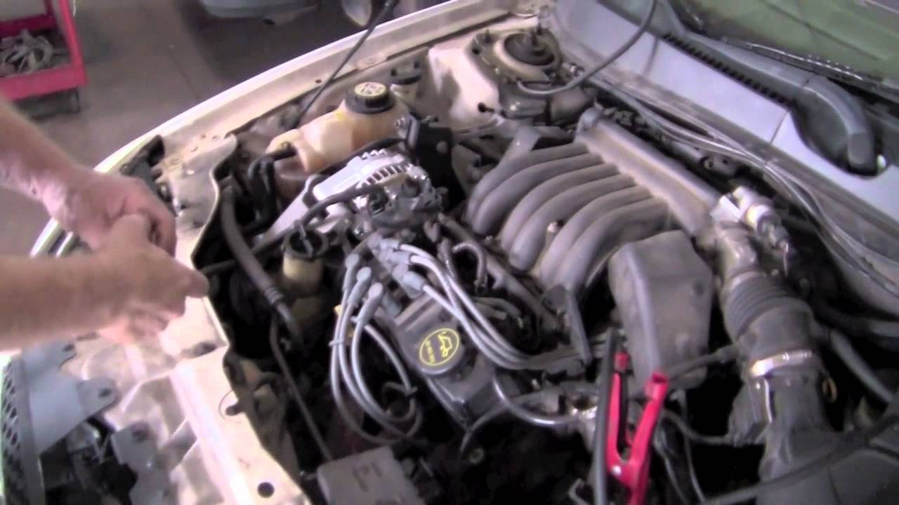 2000 ford taurus alternator wiring diagram taurus alternator test youtube  taurus alternator test youtube