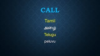 how to learn spoken Telugu through Tamil  - Important & Simple Words