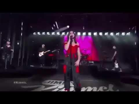 Dua Lipa - I don't give A F...(IDGAF) [ Live on Jimmy Kimmel ]