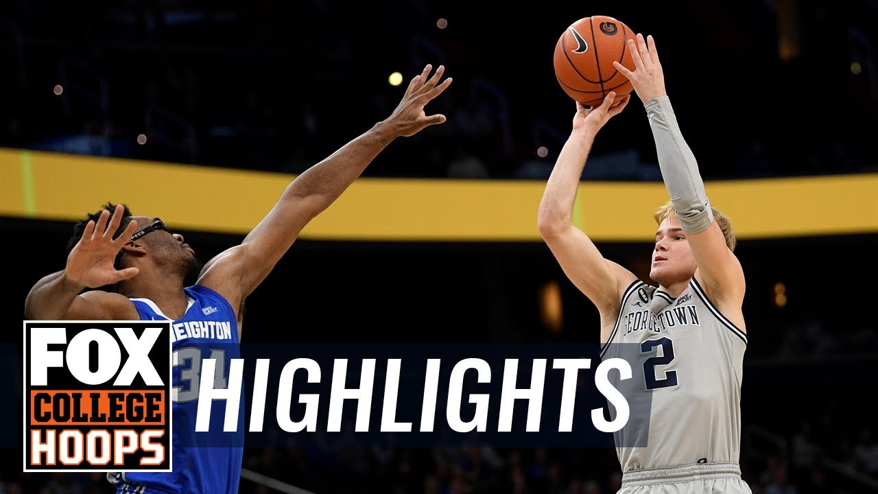 McClung's late jumper puts away Creighton, Georgetown gets narrow win  HIGHLIGHTS