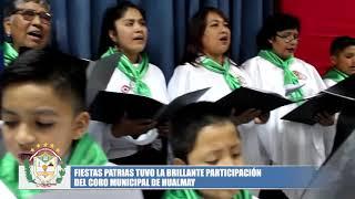 INICIATIVA MUNICIPAL DE CONSTITUIR CORO DE HUALMAY RECIBE INNUMERABLES FELICITACIONES