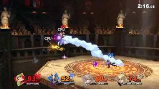 Super Smash Bros Ultimate Gameplay- Diddy Kong vs Wolf vs Corrin vs Zero Suit Samus- 12/8/18 Game 92