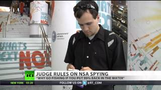 US Federal judge: NSA phone surveillance program likely unconstitutional(A judge in America has ruled that the National Security Agency may have violated the Constitution by collecting telephone data. It follows a lawsuit over privacy ..., 2013-12-17T12:06:59.000Z)