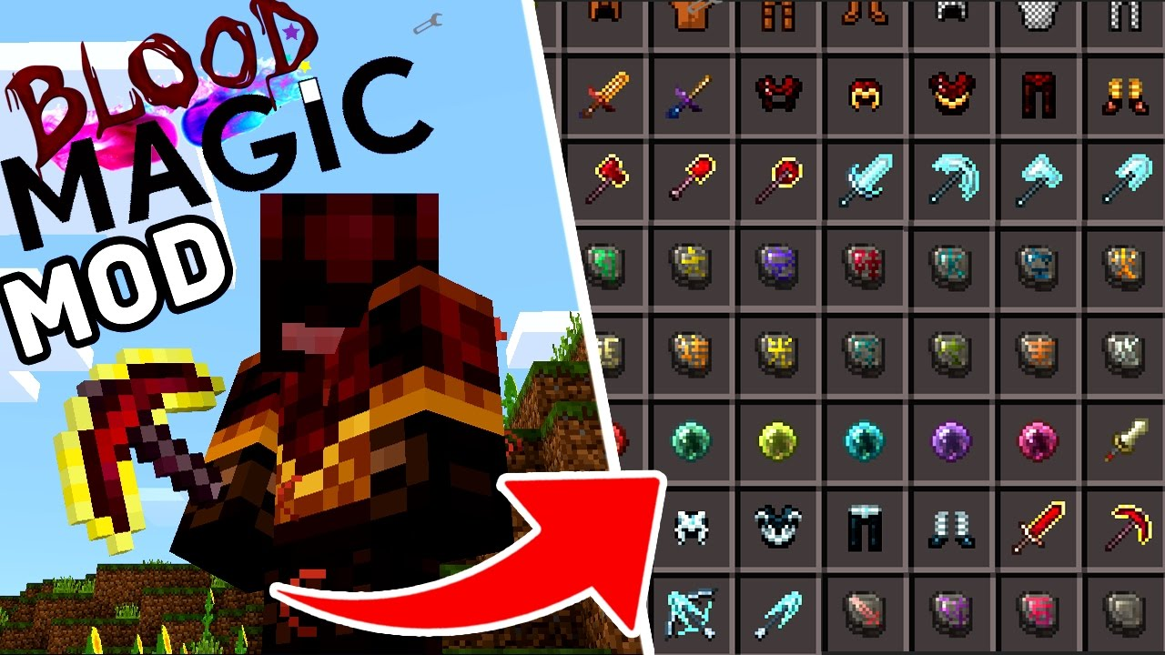 Lançou Mod Blood Magic Pe Lp Altar E Living Armor Para Minecraft
