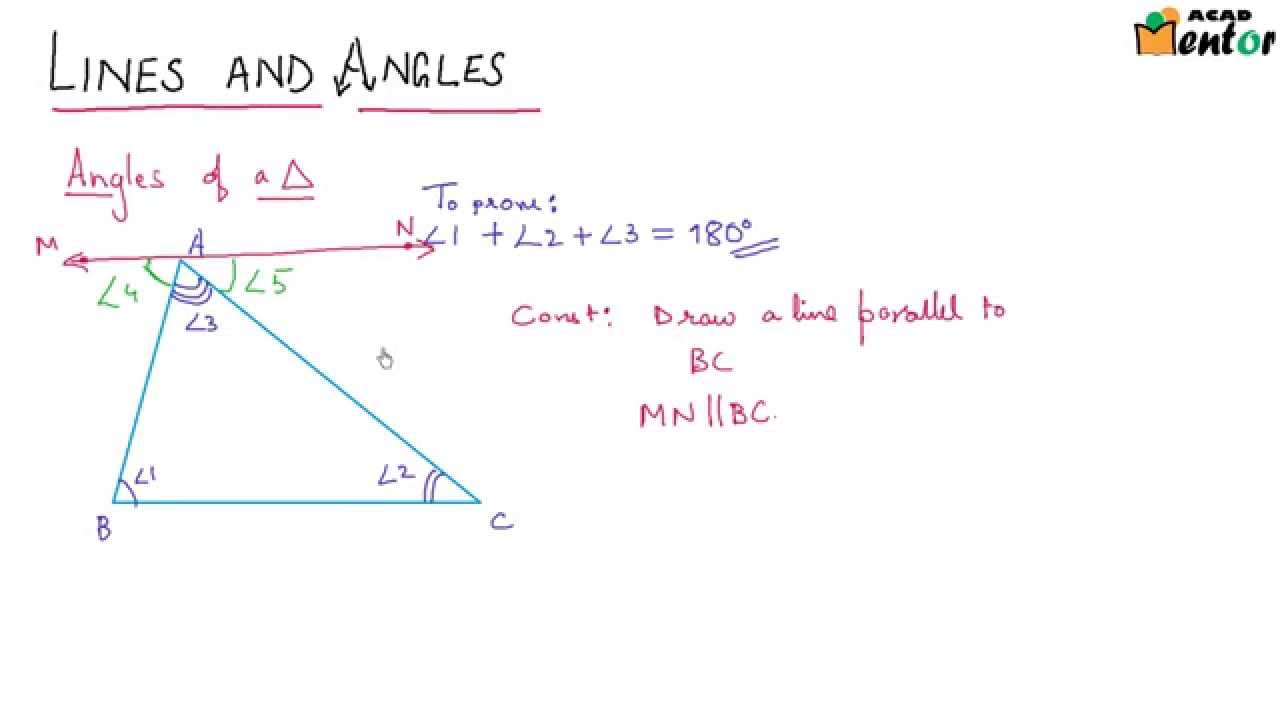 Elegant 9.6.9 Angle Sum Of A Triangle And External Angle Proof   Lines And Angles    Class 9 CBSE Math