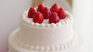 [VIDEO] 2단 케이크 만들기:생크림 케이크 아이싱 하는 법&baking basic: cake icing & decorating . How to frost a cake