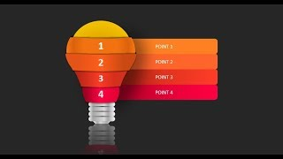 How to create bulb in Microsoft Office powerpoint | powerpoint tricks.