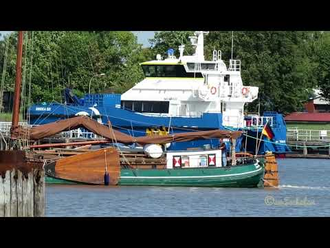 offshore highspeed crew boat WINDEA SIX DHPJ2 IMO 9841603 Emden Windpark Taxi