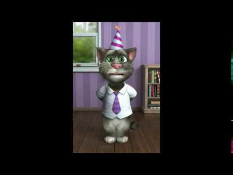 TALKING TOM CAT SINGS HAPPY BIRTHDAY TO COREY