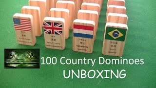 100 countries domino set UNBOXING - United States of America - Brazil - United Kingdom - Netherlands