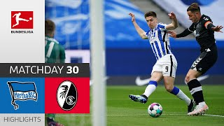 Hertha Berlin - SC Freiburg | 3-0 | Highlights | Matchday 30 - Bundesliga 2020/21
