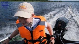 Рибалка №11 - Тест нової моделі човни MARLIN 330E (ENERGY)! + Mercury 20 л. с. - Балахановское озеро