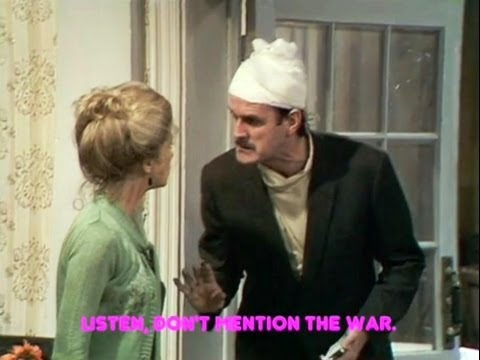Image result for images of John Cleese and don't mention the war