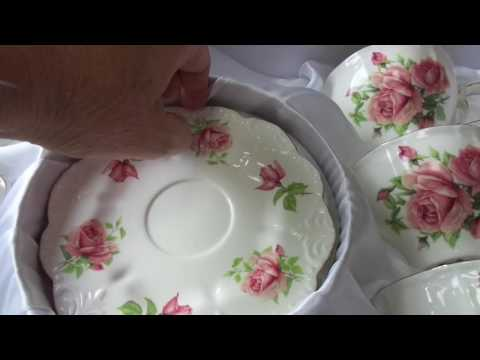 Старинный Чайный сервиз с розами. Элитная посуда. Классический стиль.