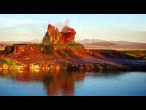 Fly Geyser located in Washoe County, Nevada USA