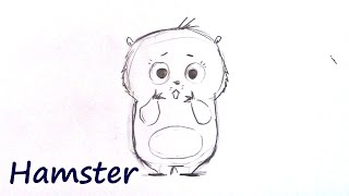 How to Draw a Cute Hamsterl - Step by Step for Beginners