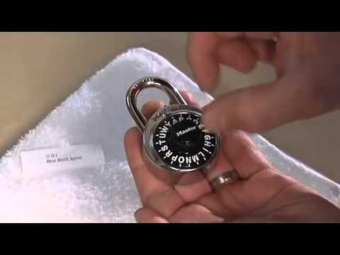 letter lock combo lock youtube