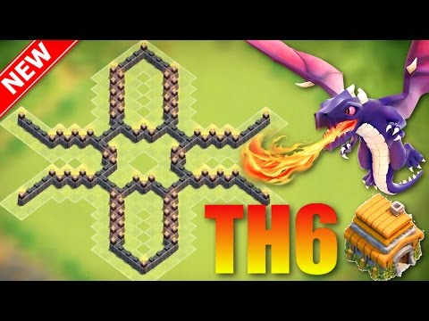 Clash of Clans | 'Un-Beatable' Town Hall 6 Trophy Base (Th6 Hybrid/Trophy Base) | The Cross - CoC