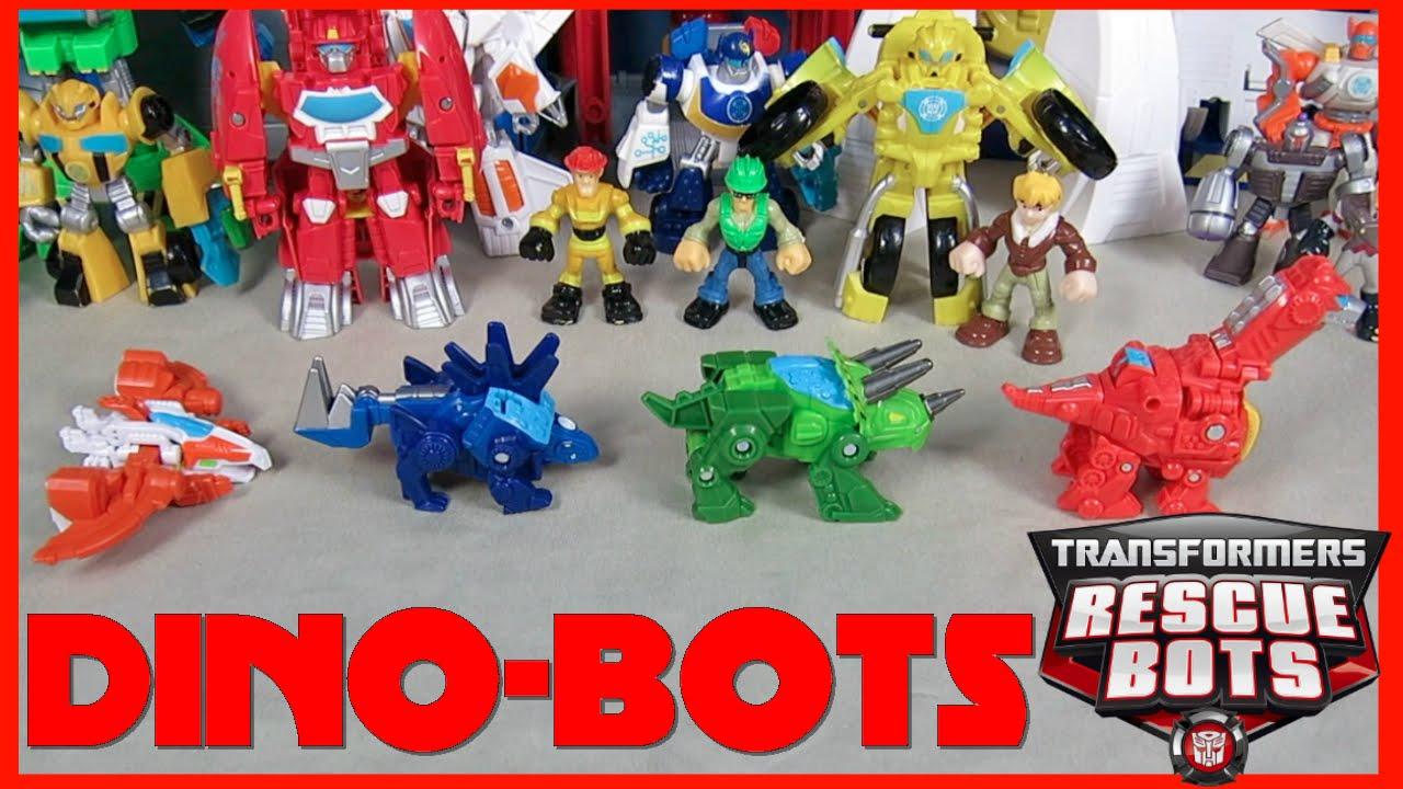 Full set transformers rescue bots dinobots heatwave chase