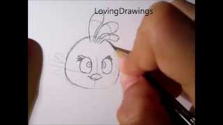 Angry Birds- Learn to draw the Pink Bird (Stella)