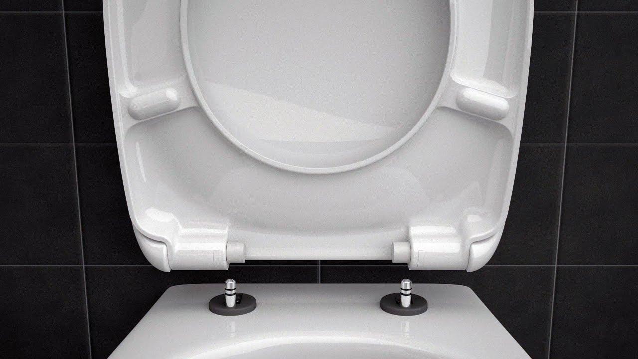 Installation Abattant A Fermeture Ralentie Soft Close Toilet Seat Siamp Youtube