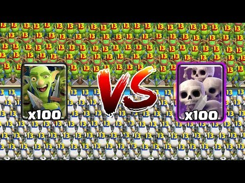 [MAX] GOBLIN GANG VS SKELETON ARMY   Clash Royale Super Challenge #2