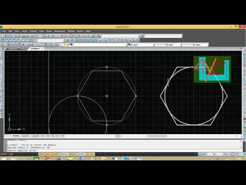 cad introduction | using commands | line | circle | cad beginners | using nanocad| 4youelectrical