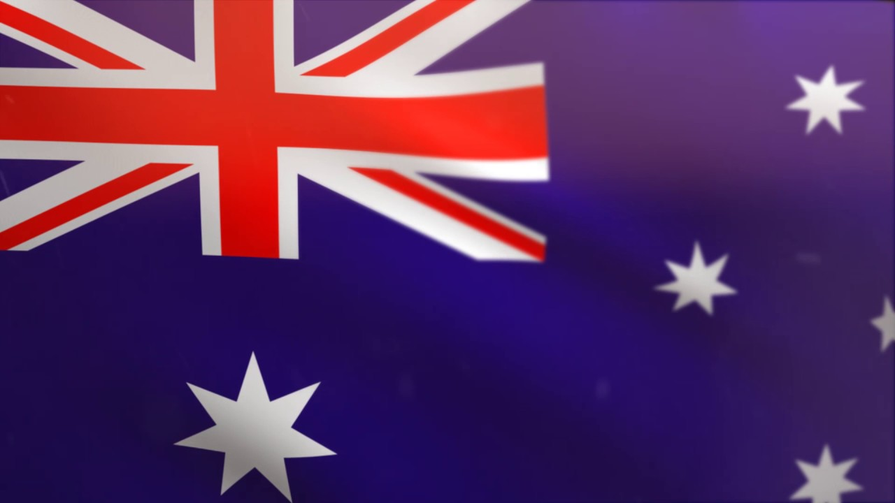 Australian Flag Waving Animated Using Mir Plug In After