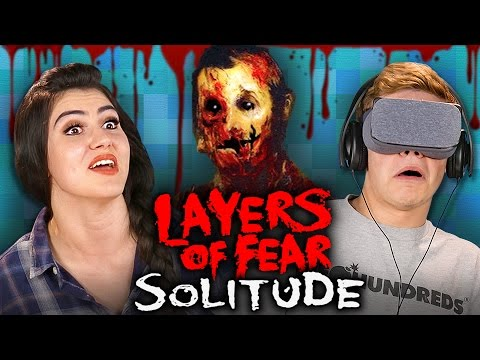 HORROR IN VR! Layers of Fear: Solitude (Teens React: Gaming)