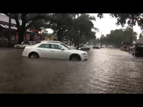 Street flooding along Banks Street in New Orleans