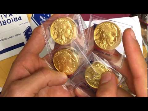 MCM Unboxing Of 10 American Gold 1 Oz Buffalo Coins