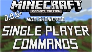 [0.9.5] SINGLE PLAYER COMMANDS iOS MOD- Minecraft Pocket Edition!