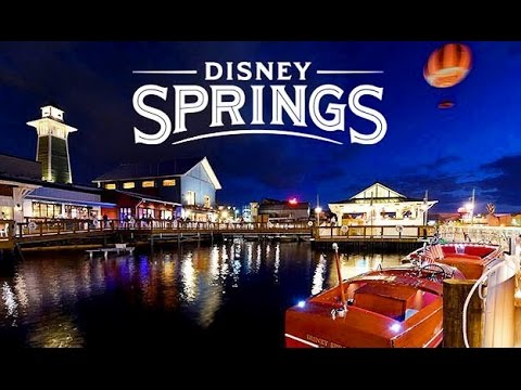 Music & Sights Disney Springs at Night, Orlando Florida Vacation