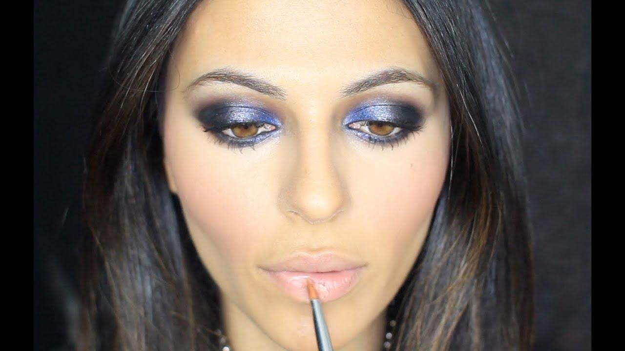 Blue Smoky Eye Tutorial | Makeup Tutorial | Teni Panosian