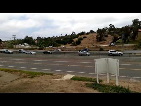 Freeway and Parking Lot Scene in San Diego County, California!