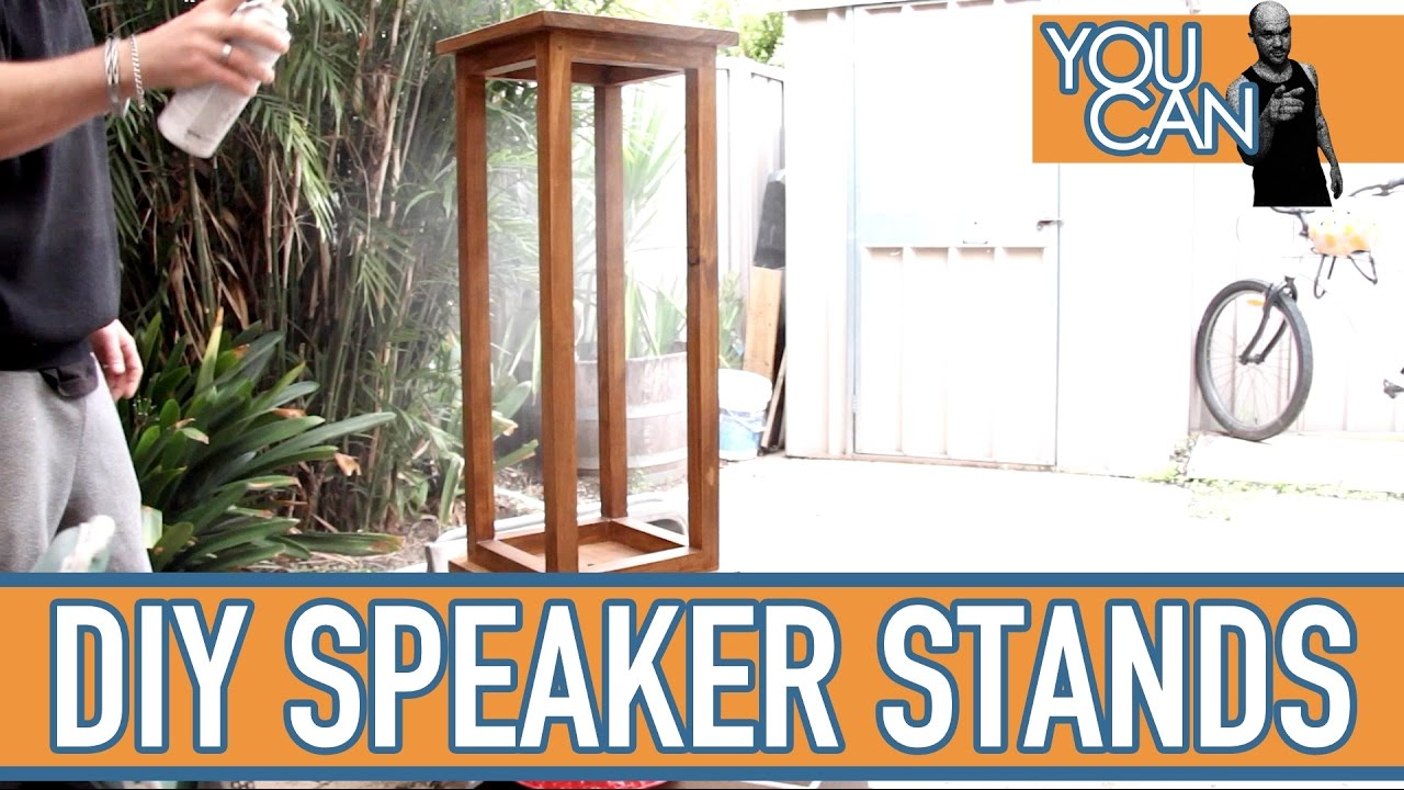 how to make speaker stands