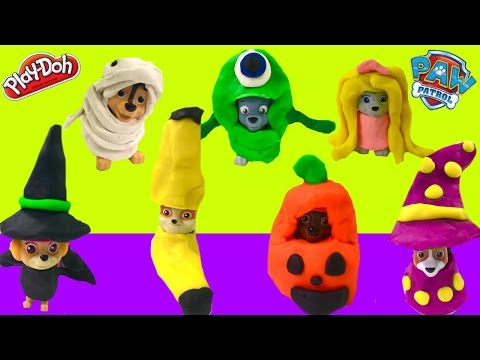 How to Make Easy Paw Patrol DIY Play Doh Halloween Costumes | Fizzy Toy Show