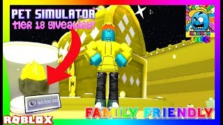 Roblox #41 | PET SIMULATOR TIER 18 GIVEAWAY! | LIVE | (sjk livestreams #234)