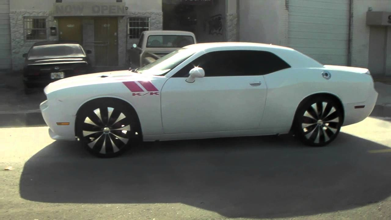 "White Challenger Black Rims >> DUBSandTIRES.com 22"" Inch KMC Fader Black Wheels 2010 ..."