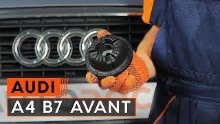 Wie AUDI A4 Avant (8ED, B7) Bremsbelagsatz Scheibenbremse austauschen - Video-Tutorial
