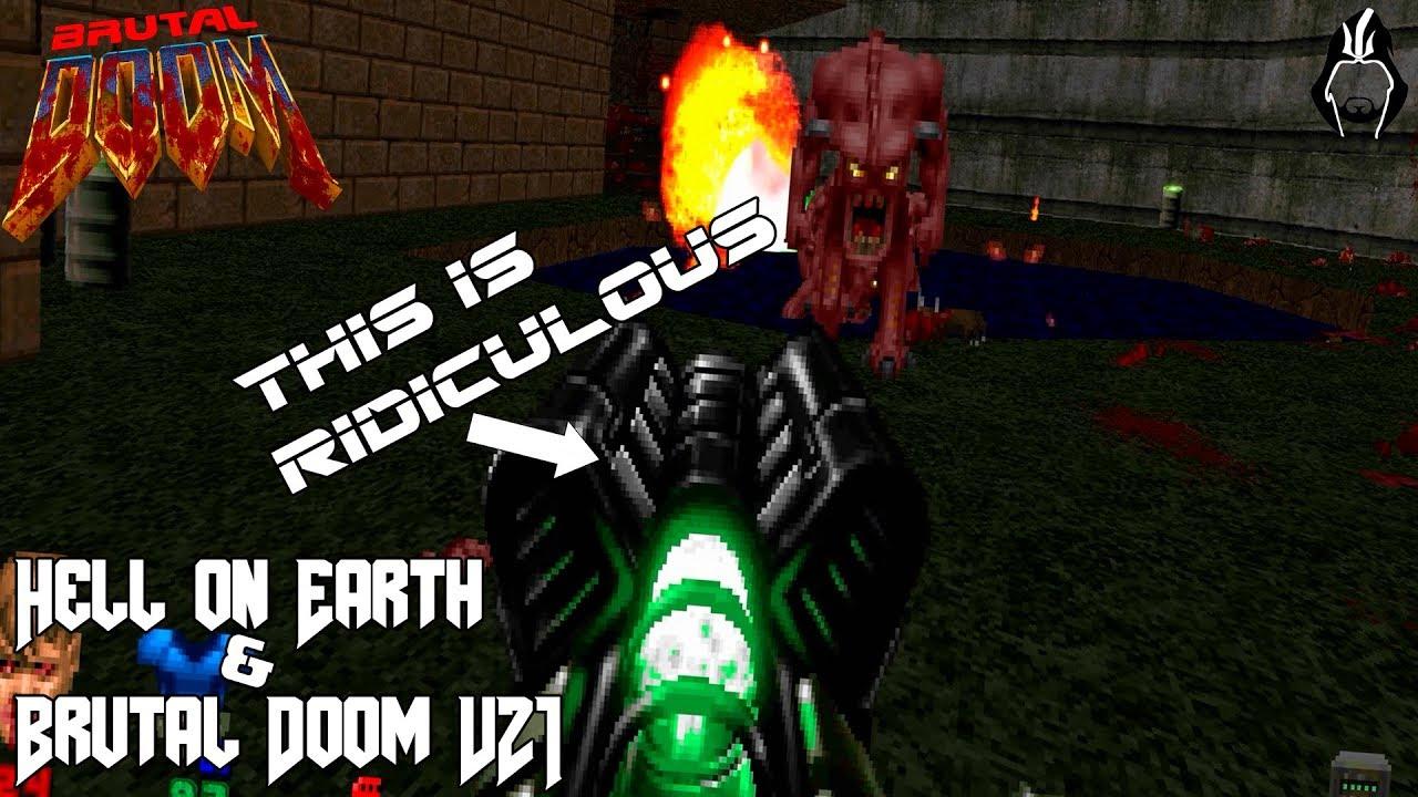 Brutal Doom   Mod's Hell on Earth & Brutal Doom V21 Beta, Gameplay, Como  Baixar e Instalar